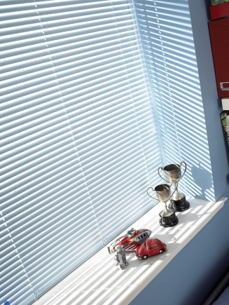 Powder Blue Window blind