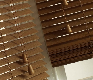 Natural and Pecan Express Window blind