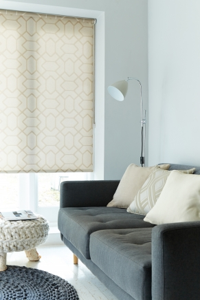 Leno Taupe Window blind