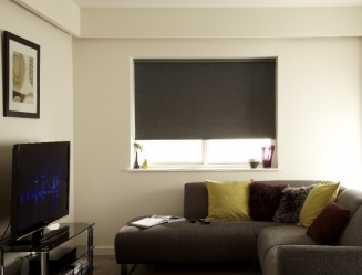 Moire Charcoal Blackout Window blind