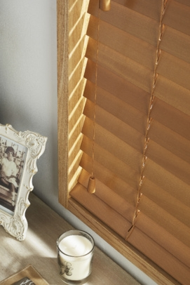 Dark Pine Window blind