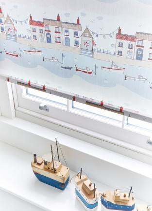 Brixham Blue - New Range 2016 Window blind