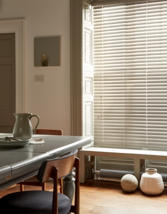 Fauxwood Flint Window blind