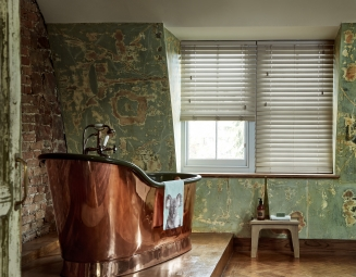 Fauxwood Flint2 Window blind