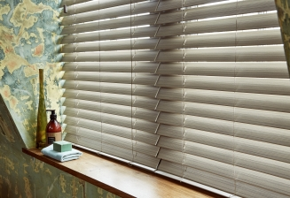 Fauxwood Greige2 Window blind