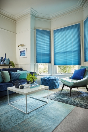 Margurite Blue Window blind