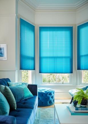 Margurite Blue2 Window blind