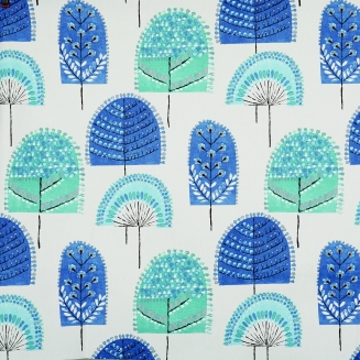 Scandi Forest Indigo - New Range 2018 - Roman Blinds