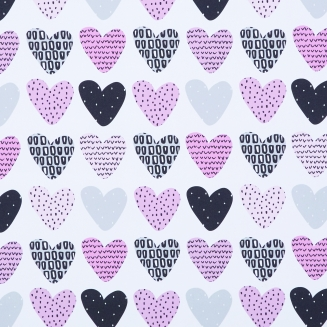 Love Hearts Blush - New Range 2018 - Roller Blinds